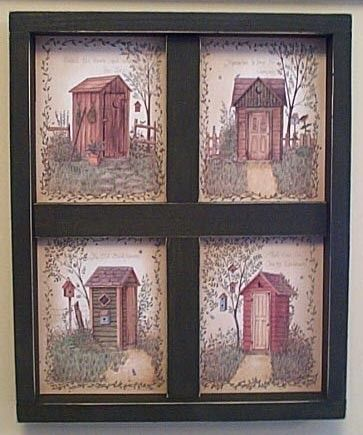 Bathroom Wall Decor Outhouse Bathroom Wall Decor Wooden Window By Deebuzz On Etsy