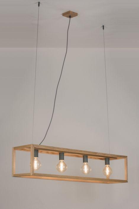 299 Pendelleuchte 10909 Modern Design Holz Helles Holz Mehr