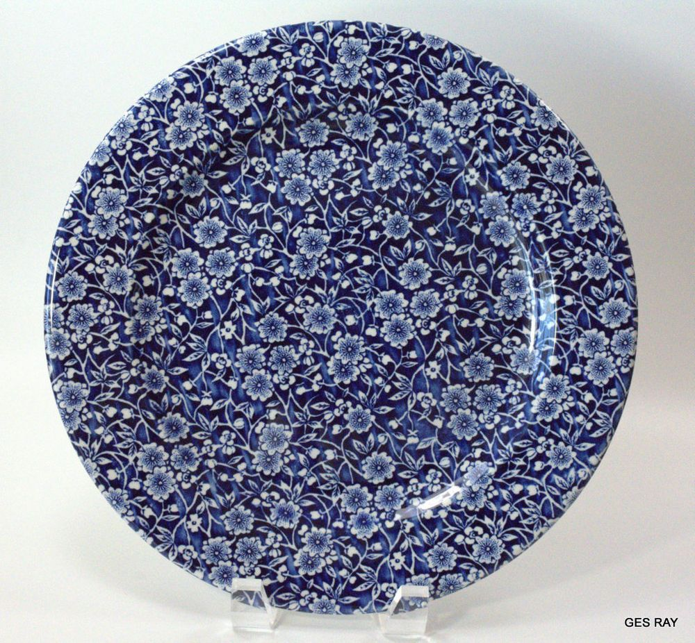 Churchill England China Calico Blue And White Flowers Pattern Dinner Plate Blue White Decor Blue And White Dinner Plates