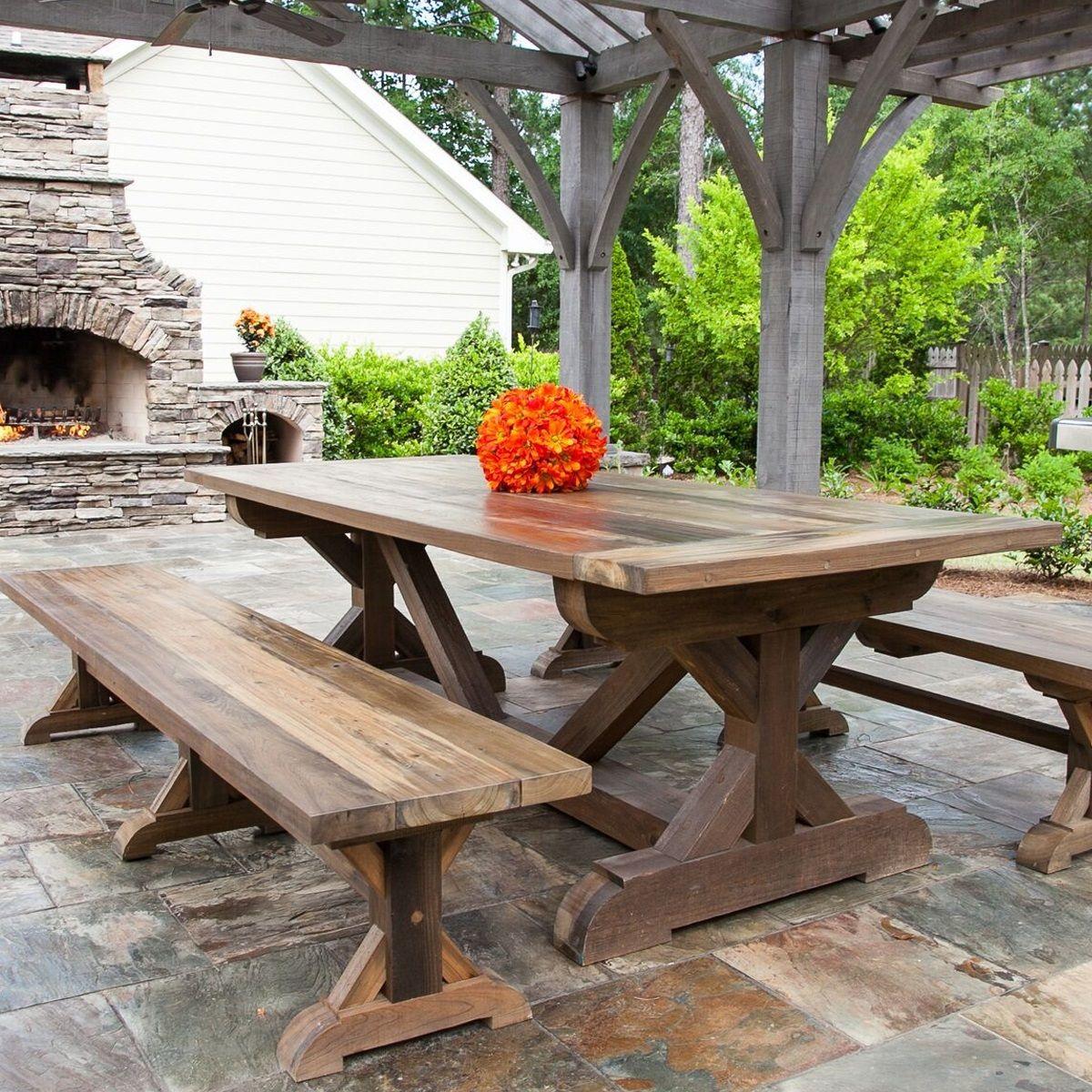 Cypress farm table outdoor farm table farm table diy