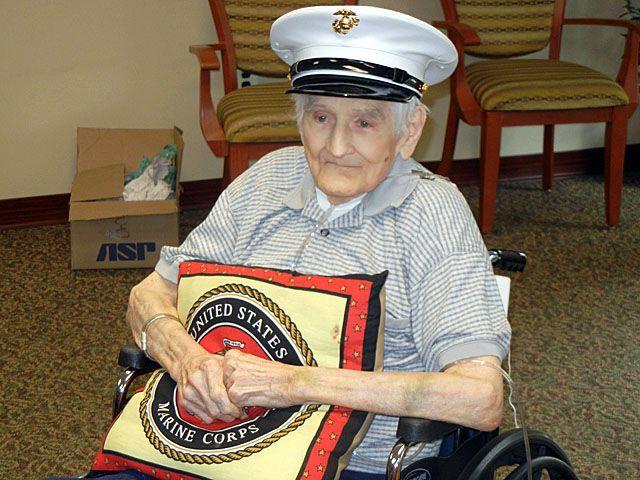 Marines honor 88-year-old WWII veteran in Fredericksburg ...
