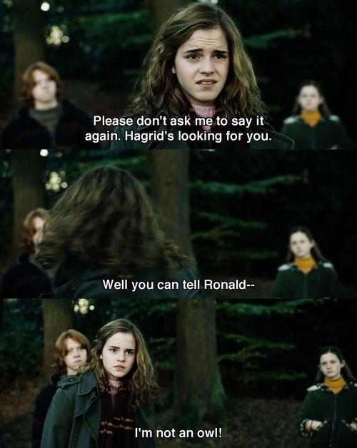 I M Not An Owl Hermione Harrypotter Harry Potter Universal Harry Potter Fan Harry Potter