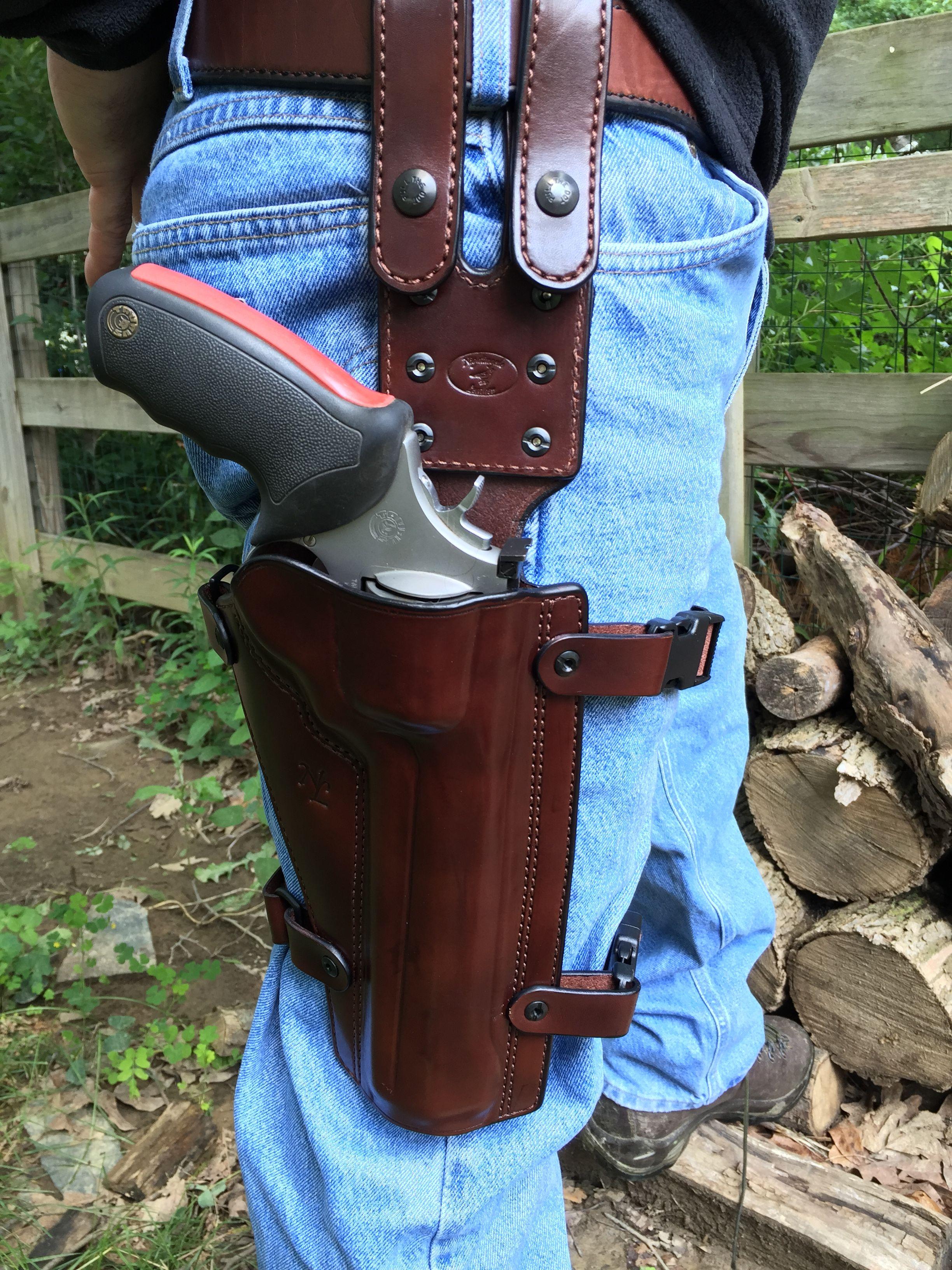 Nightingale Leather Taurus Raging Bull Drop Leg Holster