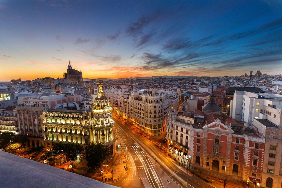 Madrid At Sunset Spain Photo Sunset Spain Earth