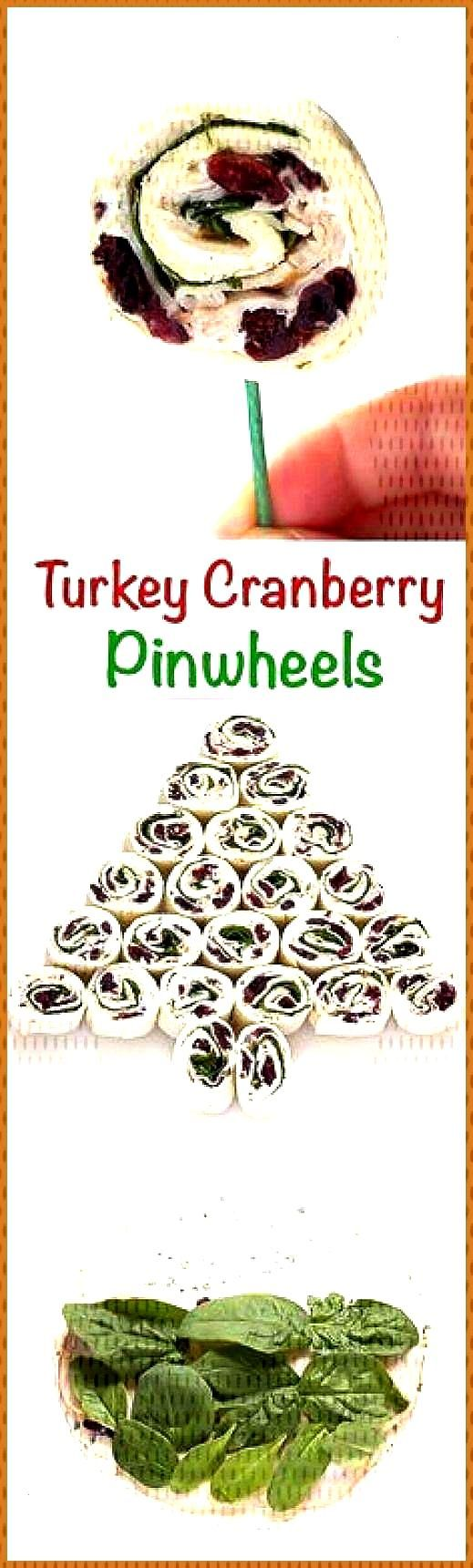 Turkey Cranberry Pinwheels – Seasoned cream cheese dried cranberries turkey and … appetierz for