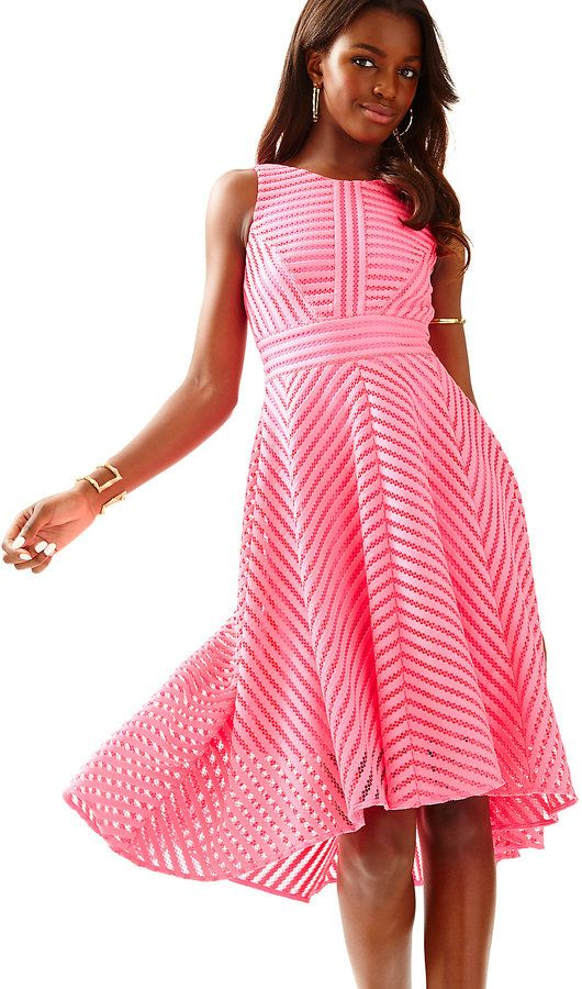 Lilly Pulitzer Tilly Midi Fit + Flare Dress {in Tiki Pink ...
