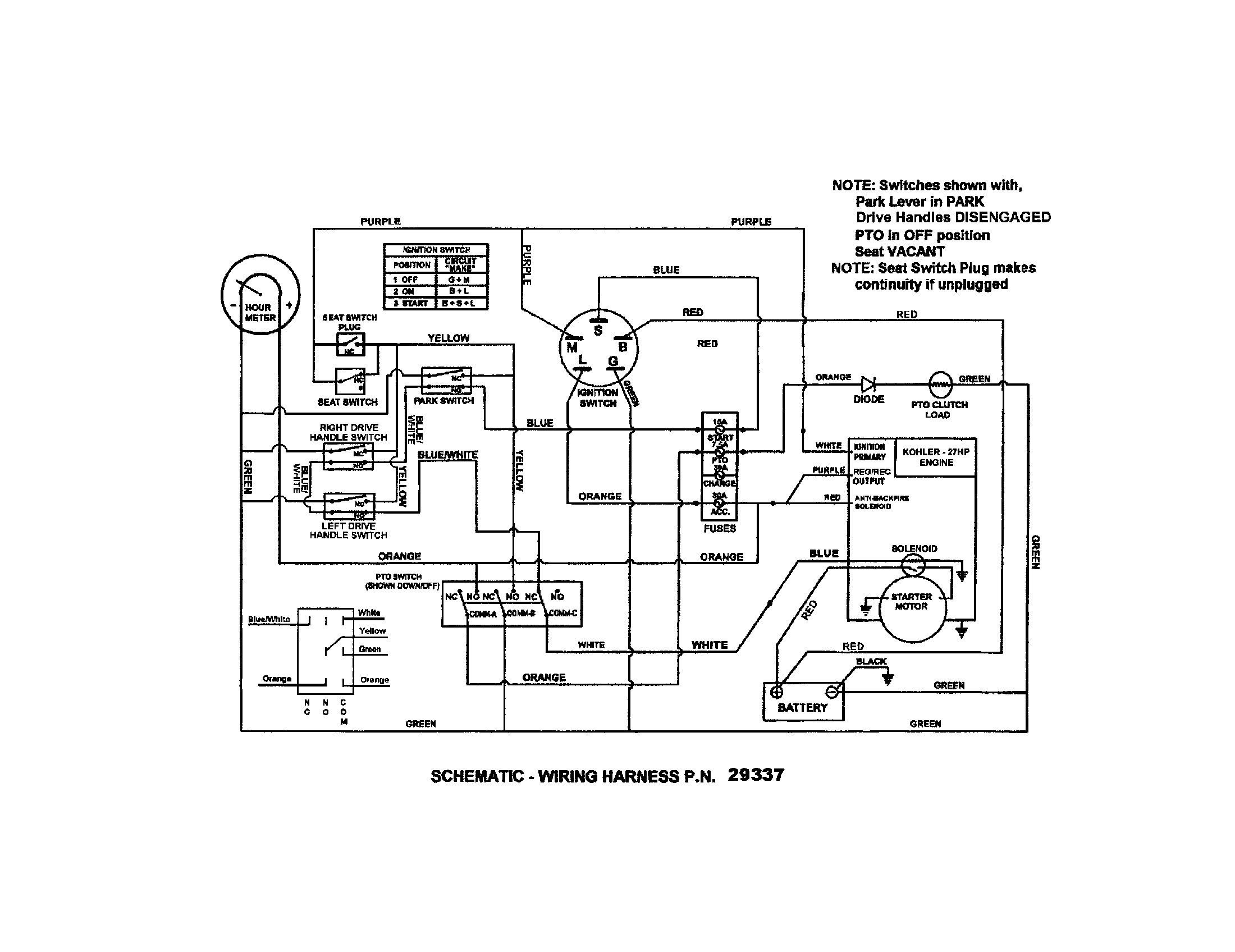 Kohler Engine Wiring Diagram Awesome In 2020