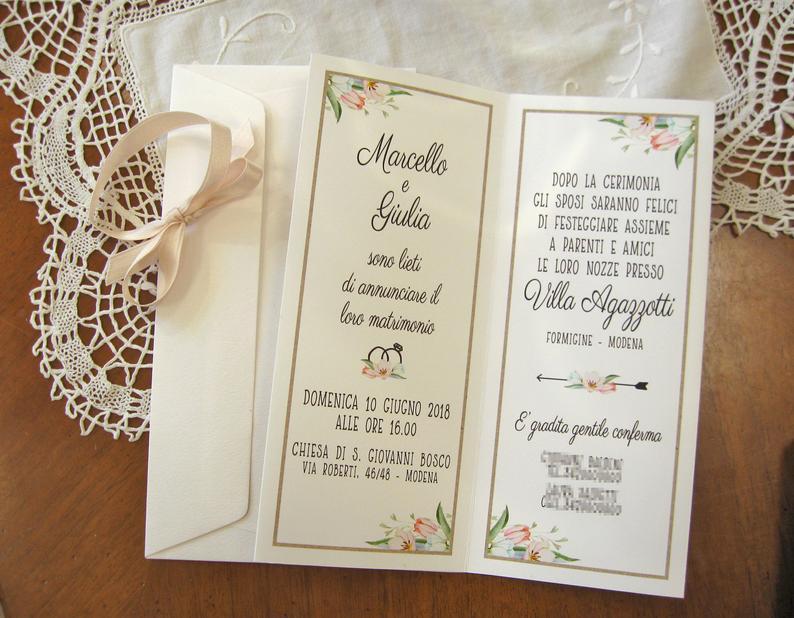 Partecipazioni Matrimonio Modena.Pin Su Partecipazioni Di Nozze