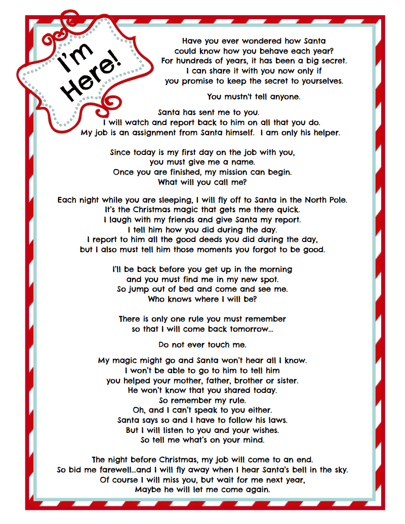 Elf on a Shelf letter WhimsicalElfLetterBluepdf Google Drive