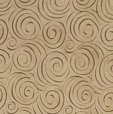 Bench Light Brown Abstract Swirl Microfiber Upholstery Fabric By