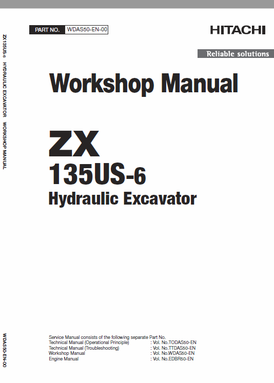 Hitachi Zx135us 6 Excavator Service Manual Hitachi Electrical Circuit Diagram Hydraulic Systems