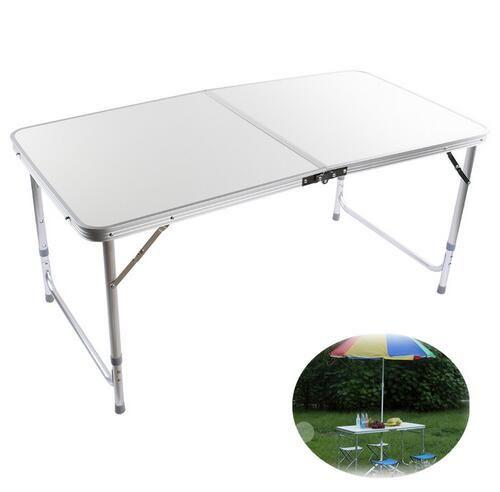 Tavolo In Alluminio Da Campeggio.1 Pz Argento 4ft Alluminio Piegante Di Campeggio Portatile Tavolo