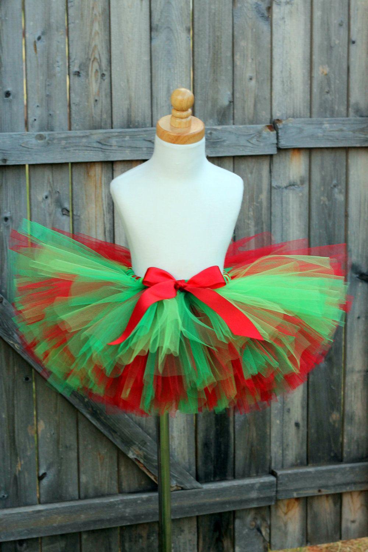 3667c7dbd3de Holly Jolly Christmas Tutu Red and Green Tutu | Crafty | Christmas ...
