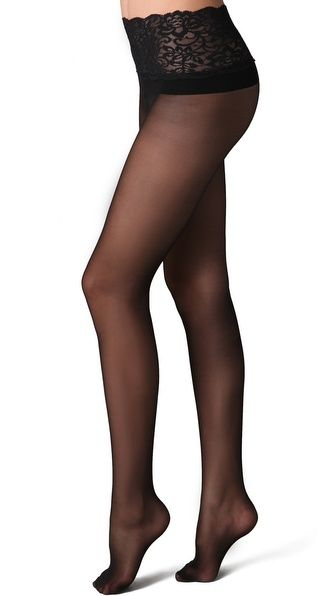 ebb6bbd8caad9 Sheer Tights with Lace Waistband | The Land of Legwear | Sheer ...
