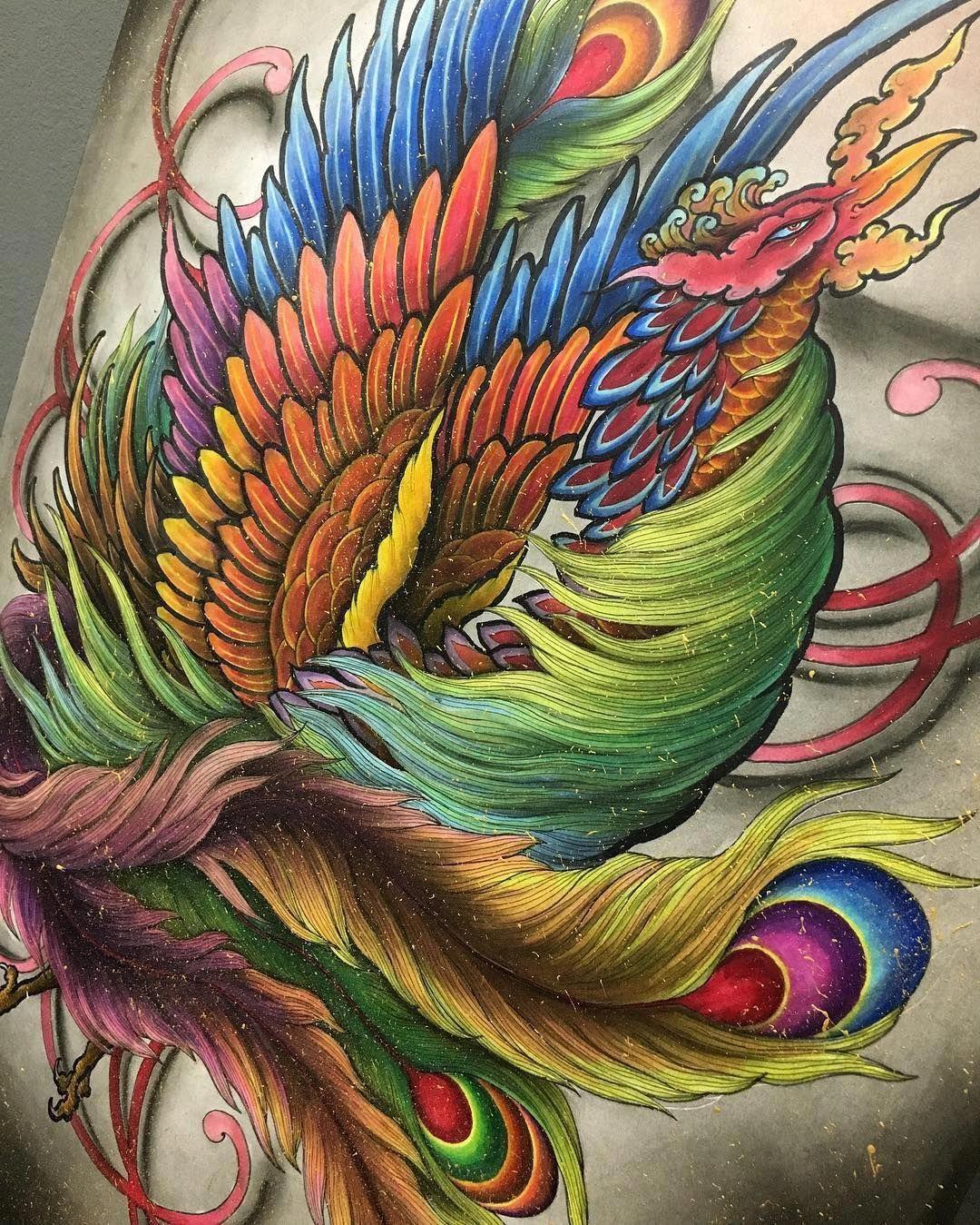 Japanese Tattoos Pinterest Japanesetattoos Y Tưởng Hinh Xăm Hinh Xăm Phượng Hoang Hinh Xăm