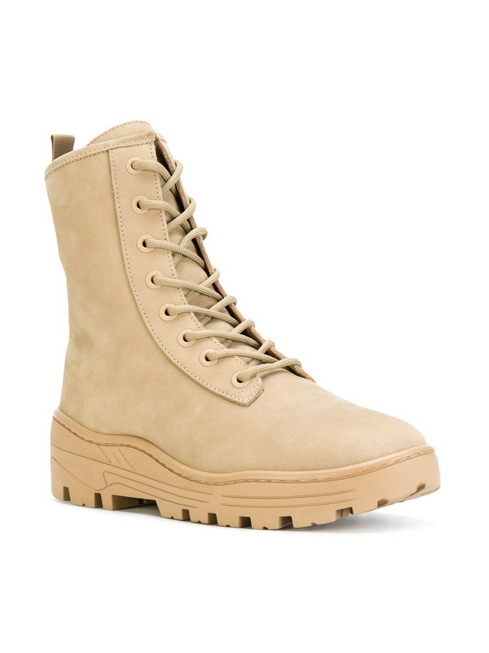 fe7ae6aca59  525.00 USD Taupe Nubuck Combat Boot   YEEZY Men s boots in Taupe from YEEZY  Season 5
