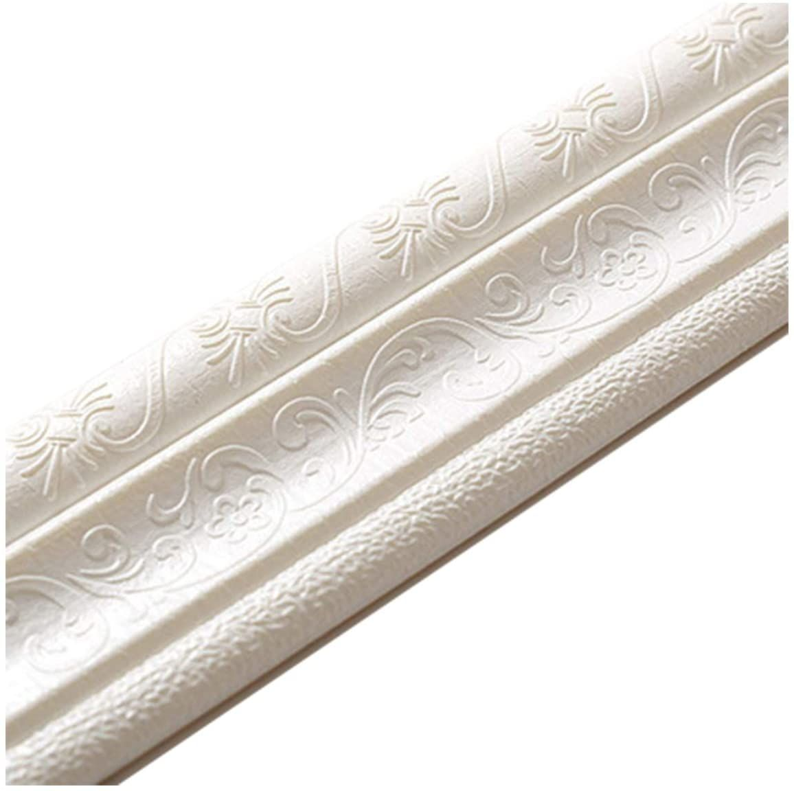 Cozylkx 90 X 3 Self Adhesive Flexible Foam Molding Trim 3d Sticky Decorative Wall Lines Wallpaper In 2020 Moldings And Trim Decorative Wall Molding Diy Molding