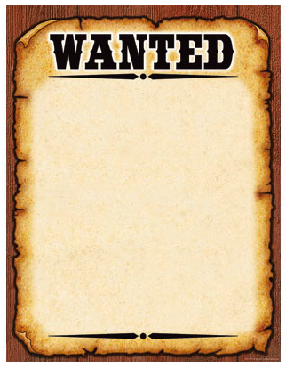 Western Wanted Poster Chart Poster Template Free Poster Template Wanted Template