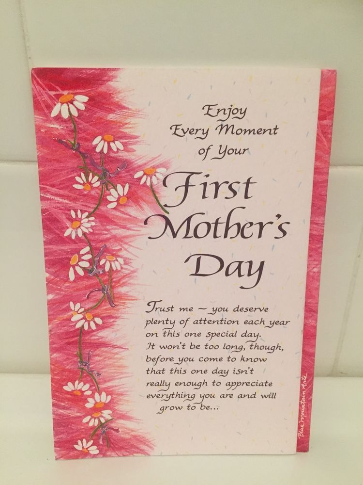Bluemountain arts card verse first mothers day card from