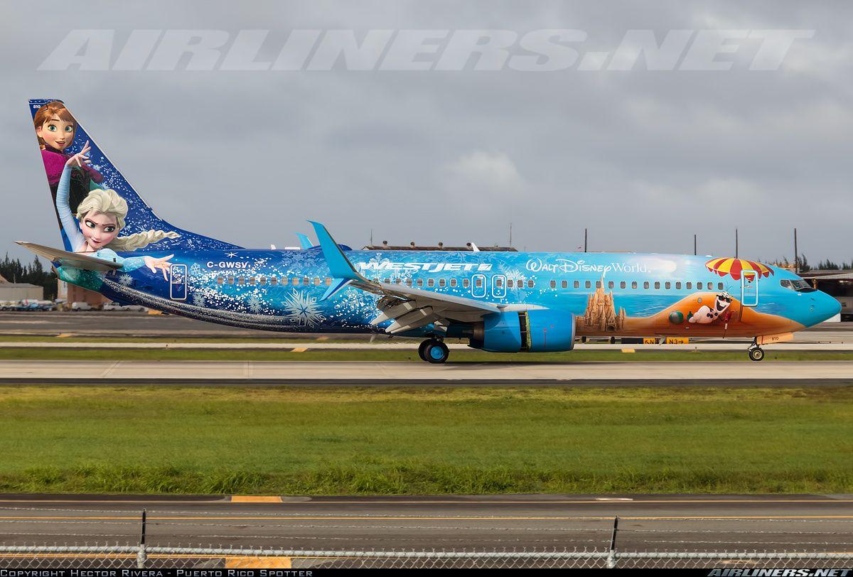 Westjet Boeing 737 8ct C Gwsv 810 Cn 37158 2841 Disney S