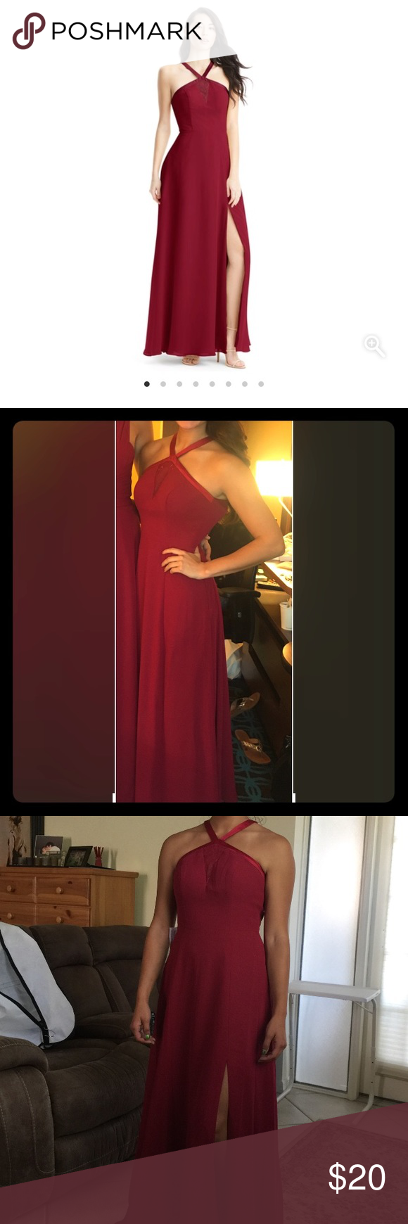 Burgundy azazie prom dress my posh closet pinterest burgundy