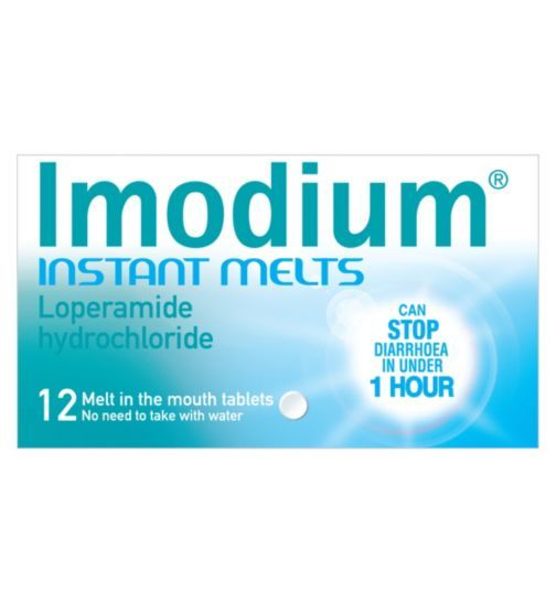 Imodium Instant Melts 12 Tablets Melting In The Mouth 72 Hour Emergency Kit Instant