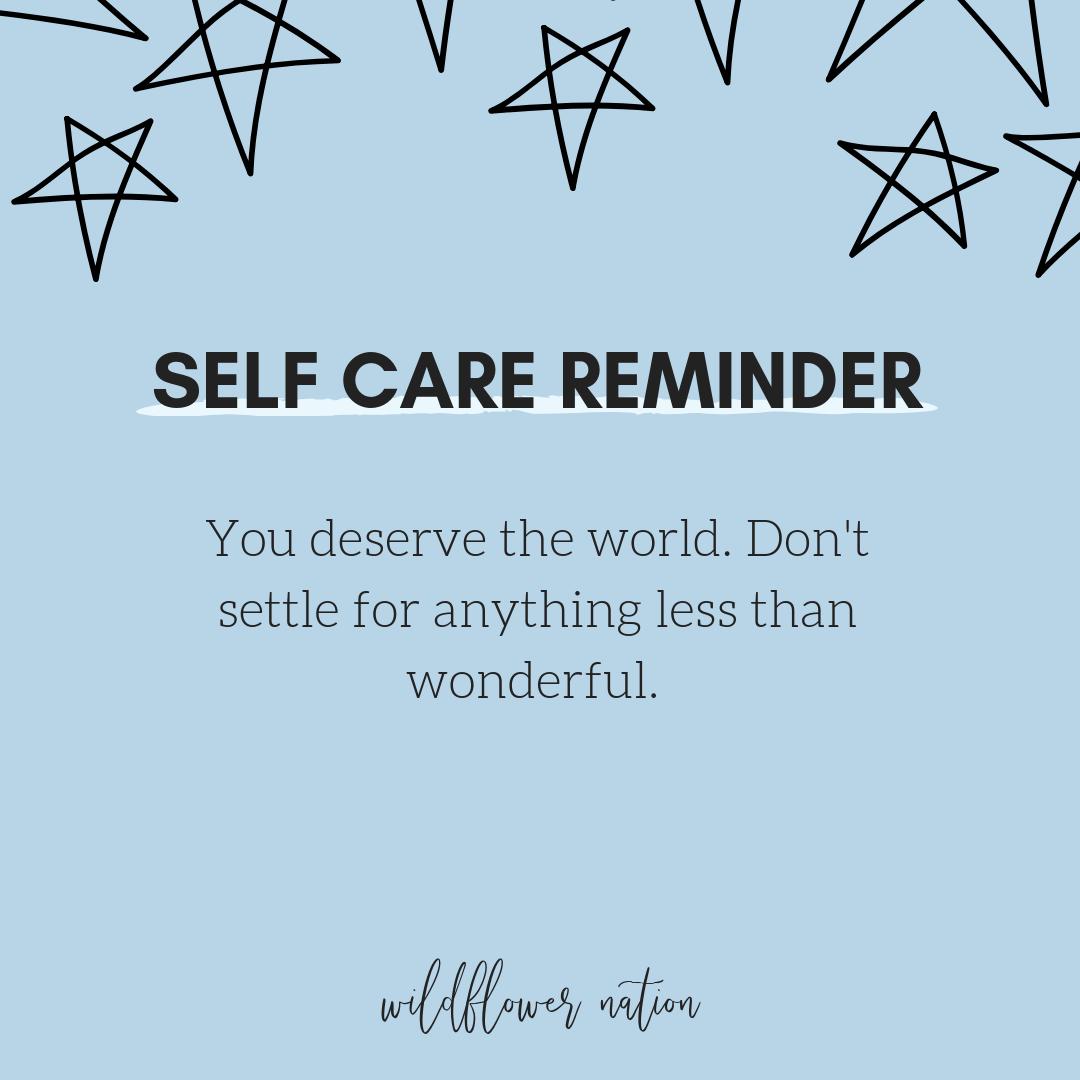 30 Self Care Reminders