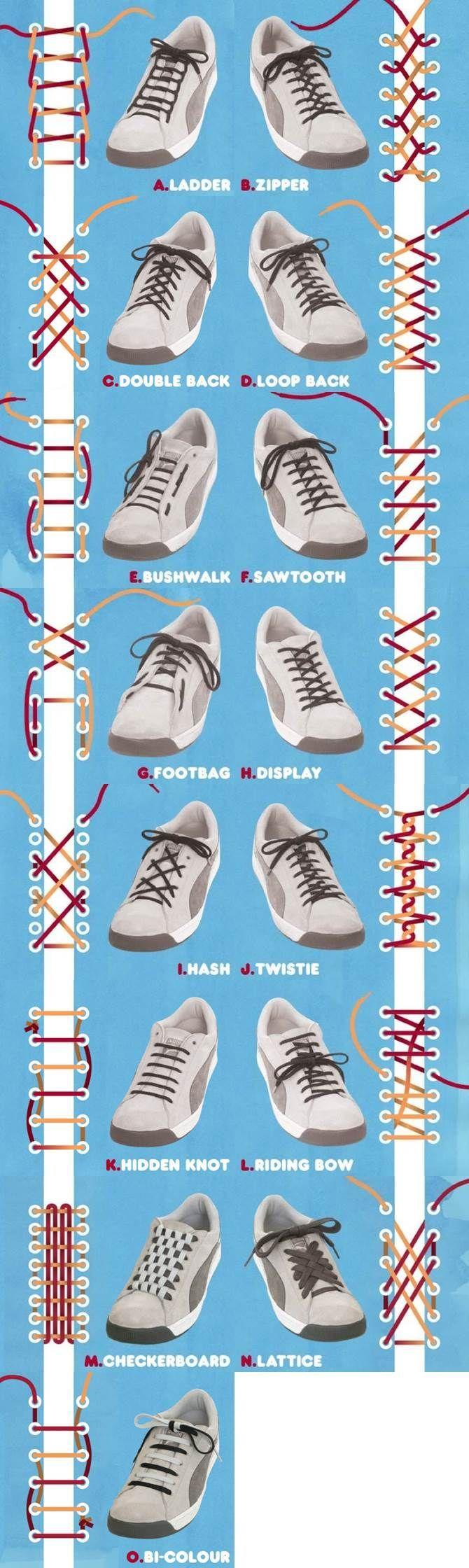 Zapatos Atarse Cordones De Diferentes Formas Para Los mNn0wv8