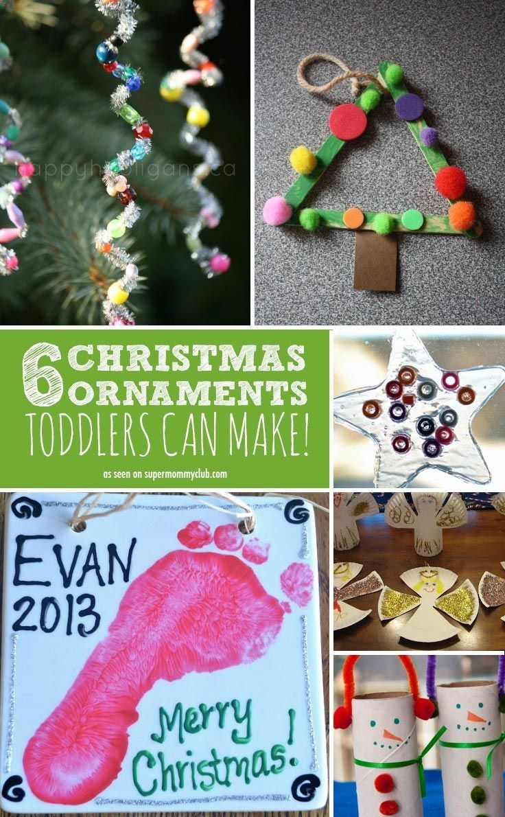 12 super easy christmas ornaments toddlers can make with a little help from you - Easy Christmas Crafts For Preschoolers