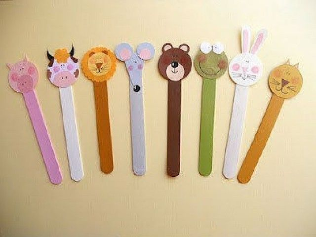 animals of sticks of ice cream made from ice cream sticks