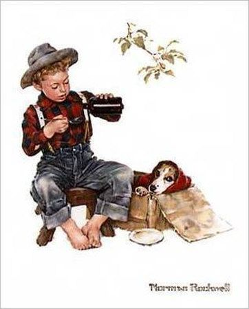 Bedside Manner  by Norman Rockwell  This hangs in husband's veterinary clinic