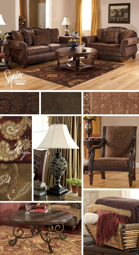 living room furniture ashley. Bradington Sofa  Loveseat Ashley Furniture Den FurnitureLiving Room Traditional Old