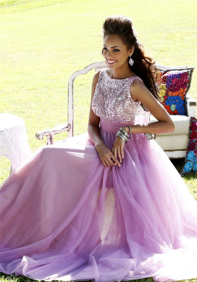 Elegant a line beaded chiffoin with bowknot long prom dress party