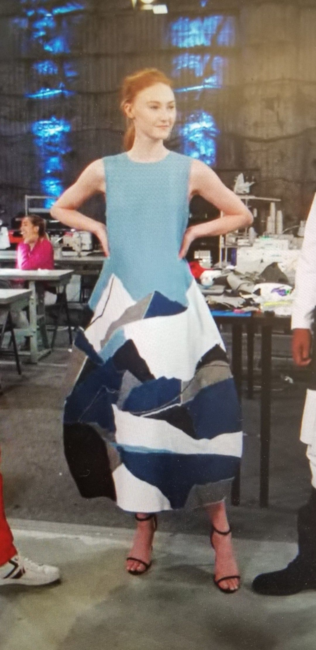 Daniel Fletcher denim scraps dress | Fashion, Denim fashion, Denim scraps