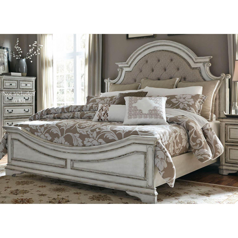 Magnolia Manor 5 Piece Bedroom Set King Upholstered Bed Queen