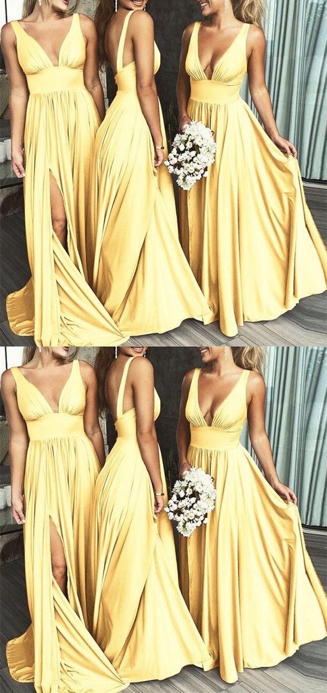 Champagne Bridesmaid Dress,Chiffon Long