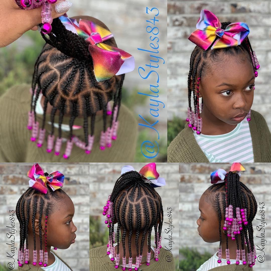 November Love On Instagram Children S Braids And Beads Dm Me For Booking Information Childrenhai Braids For Kids Little Girl Braid Styles Kid Braid Styles