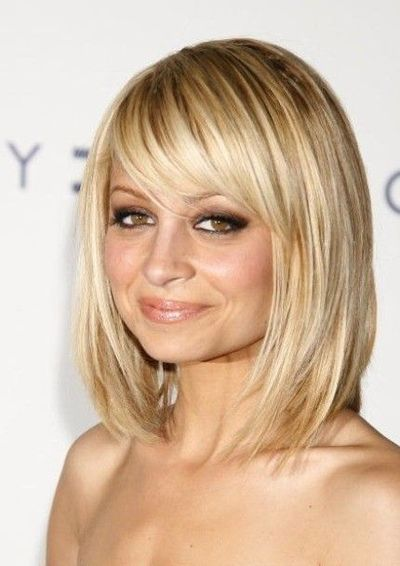 Classic Side Swept Bangs On Long Layered Bob Hair Styles Celebrity Short Hair Hair Lengths