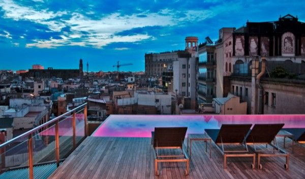 Grand Hotel Central Barcelona Grand Hotel Barcelona Hotels Rooftop Terrace