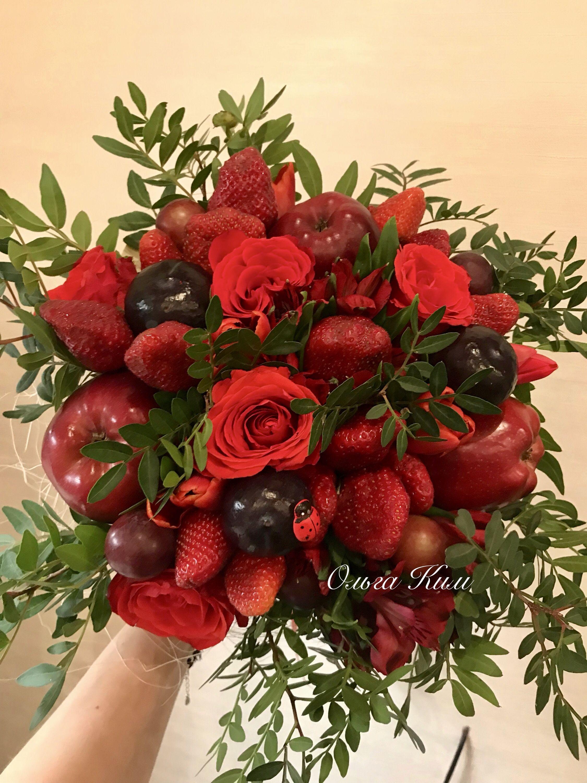 Поздравление фруктовым букетом фото 945