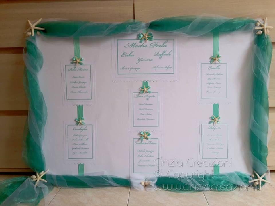 Partecipazioni Matrimonio Azzurro Tiffany : Tableau de mariage e partecipazioni