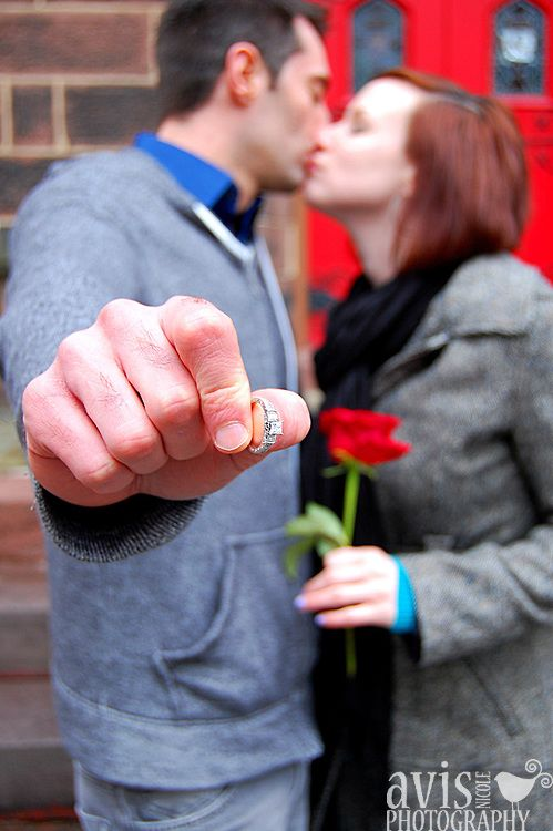 ring, rose and a kiss engagement shot | avis nicole photography