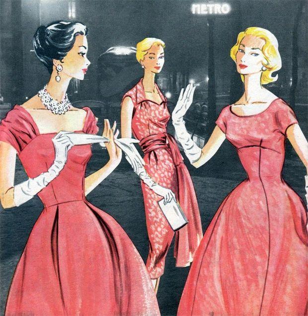 Vintage Inspiration Elegance 1956 1950s Fashion Women Vintage Fashion 1950s Women