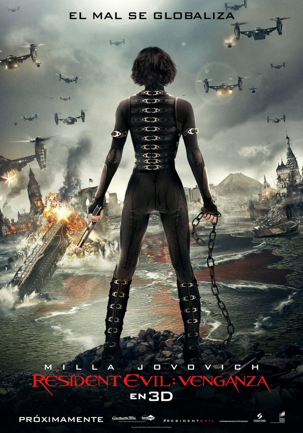 Main Poster Page For Resident Evil Retribution Resident Evil Movie Resident Evil 5 Resident Evil