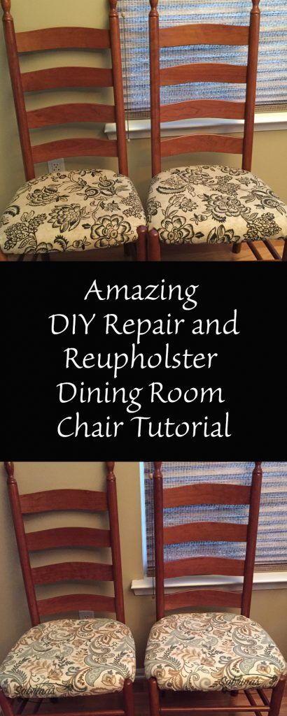 Amazing DIY Repair And Reupholster Dining Room Chair Tutorial