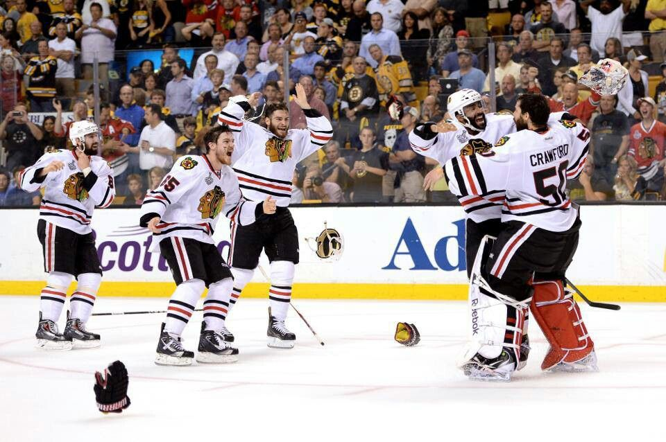Chicago Blackhawks CELEBRATE their WIN 6-24-2013 Stanley Cup CHAMPIONS <3