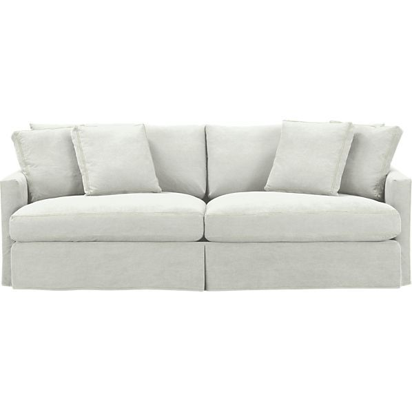 Slipcover Only For Lounge 93 Sofa In Sofas Crate And Barrel Denim