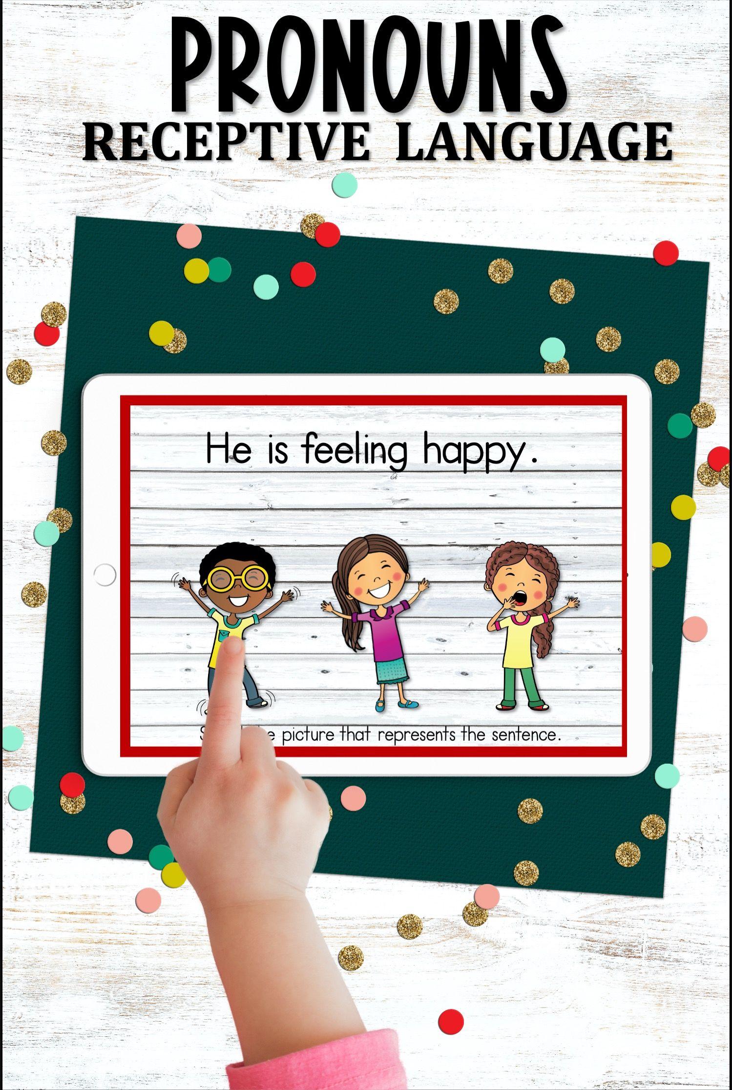 Receptive Language Pronouns Receptive Language Activities Expressive Language Activities Speech Therapy Activities Preschool