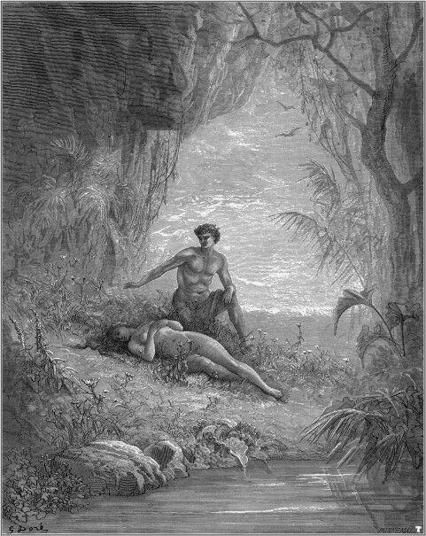 Dore. Adam and Eve, 1868