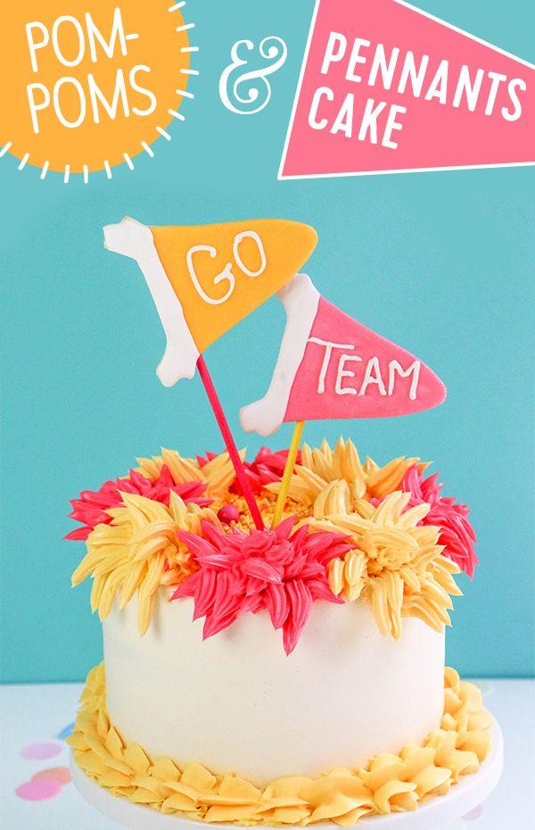 Candy Melts Pom Poms Pennants Cake Candy Melts And Cake